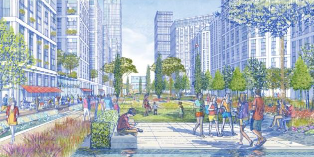 Artist's impression of the Stephenson Street development